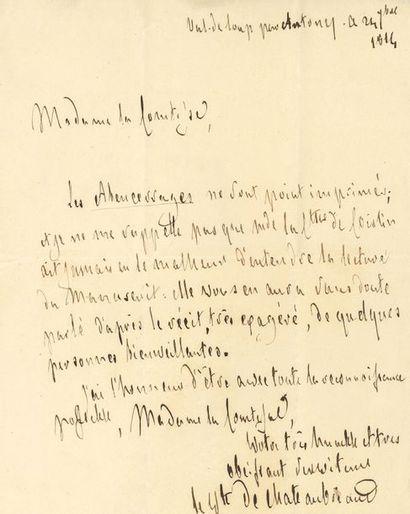 CHATEAUBRIAND François-René, vicomte de (1768-1848)...