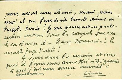 CLAUDEL Paul (1868-1955) [AF 1946, 13ef]....