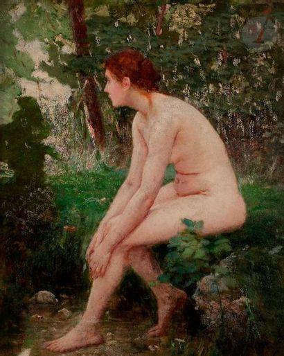 Philippe PARROT (1831-1894) Nu dans un bois...