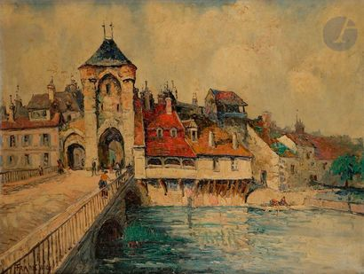 FRANK-WILL (1900-1951) Moret-sur-Loing Huile...