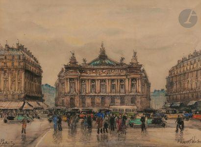FRANK-WILL (1900-1951) Paris, la place de...