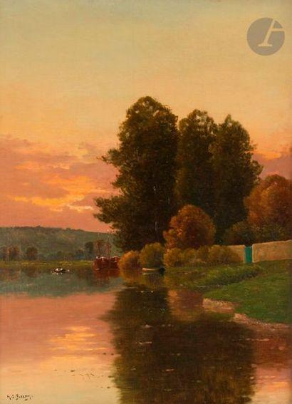 Henri Jacques DELPY (1877-1957) Bord de rivière...