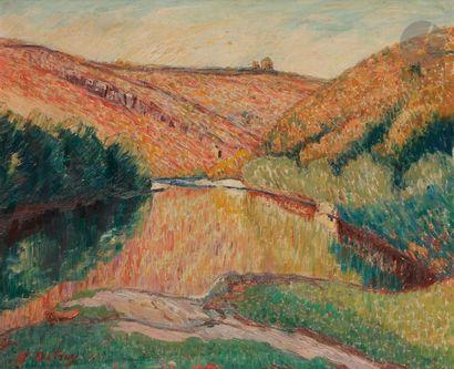 Léon DETROY (1859-1955) Vue de la Vallée...