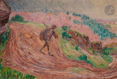 Léon DETROY (1859-1955) Le Chasseur Huile...