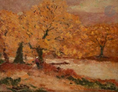 Fernand MAILLAUD (1862-1948) Creuse, arbres...