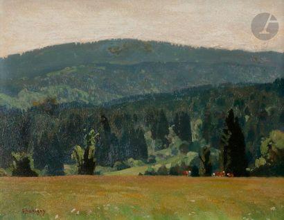 André CHARIGNY (1902-2000) La Forêt jurassienne...