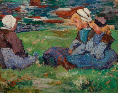 Jean-Julien LEMORDANT (1880-1968) Bretonne...