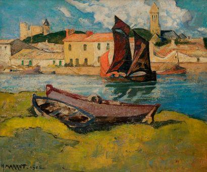 Henri Justin MARRET (1878-1964) Noirmoutier,...