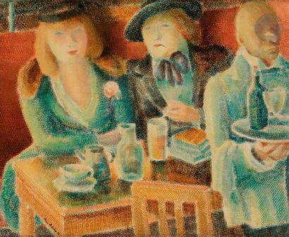*Pierre de BELAY (1890-1947) Colette au café,...
