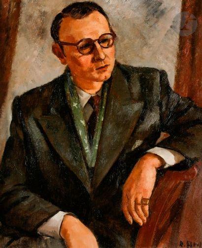François EBERL (1887-1962) Portrait d'homme...