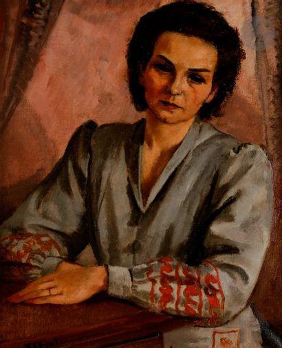 François EBERL (1887-1962) Portrait de femme...