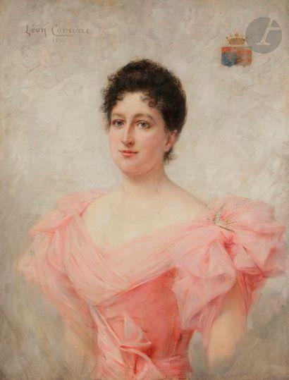 Léon-François COMERRE (1850-1916) Femme en...