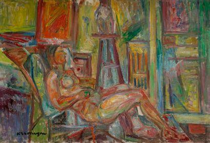 Pinchus KRéMèGNE (1890-1981) Nu dans l'atelier...