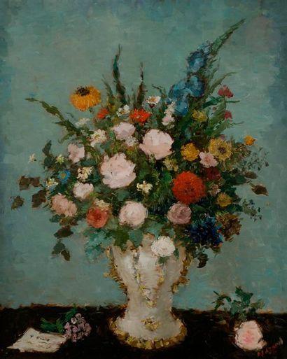Dietz EDZARD (1893-1963) Vase de fleurs Huile...