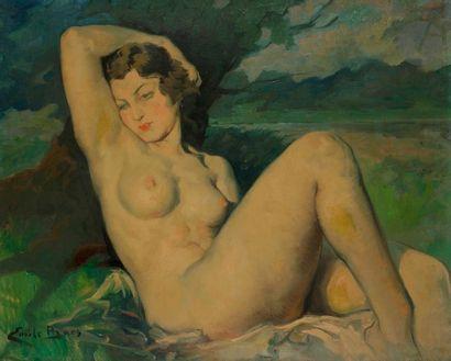 Émile BAES (1879-1954) Nu féminin Huile sur...