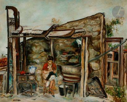 Isaac ANTCHER (1899-1992) La Couturière Huile...