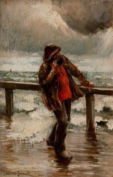 Norbert GOENEUTTE (1854-1894) Marin et mer...