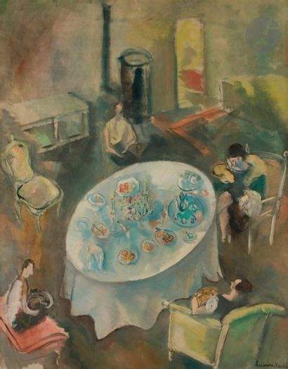 *Hermine DAVID (1886-1971) Après le goûter,...