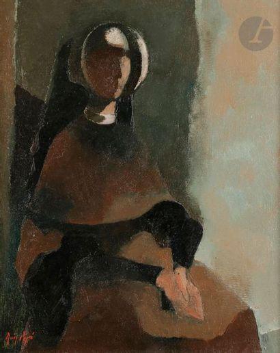 Manolo RUIZ-PIPO (1929-1998) La Religieuse...