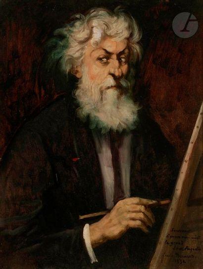 *Émile BERNARD (1868-1941) Portrait de Louis Anquetin, 1932 Huile sur toile contrecollée...