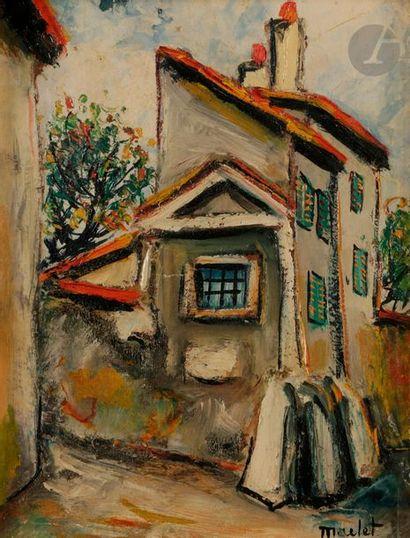 *Élisée MACLET (1881-1962) Pavillon de chasse...