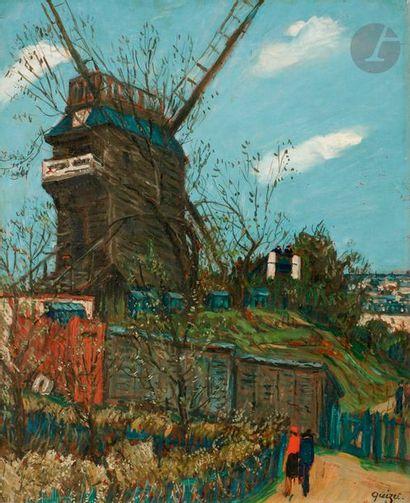 Alphonse-Léon QUIZET (1885-1955) Montmartre,...