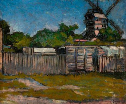 Alphonse-Léon QUIZET (1885-1955) Moulin à...