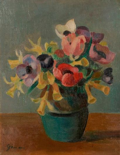Wilhelm GIMMI (1886-1965) Vase de fleurs...