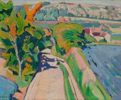 Louis NEILLOT (1898-1973) Le Chemin creux,...