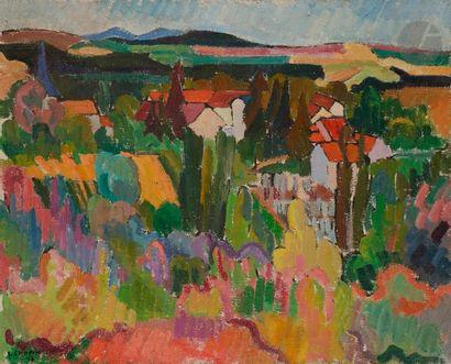 Juliette CHOPIN (née en 1931) Paysage à Creuzier,...