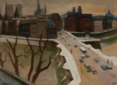 Robert LOTIRON (1886-1966) Le Pont Neuf,...