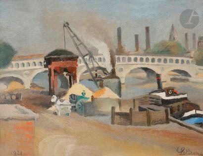 Robert LOTIRON (1886-1966) Paris, viaduc...