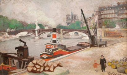 Robert LOTIRON (1886-1966) Paris, bord de...
