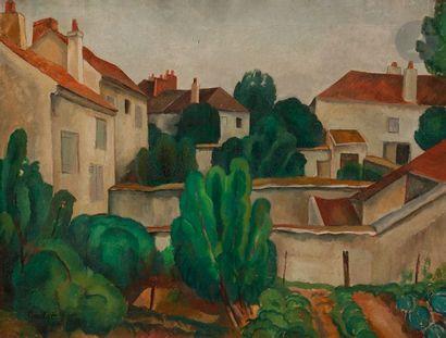 Roland OUDOT (1897-1981) Les Jardins Huile...