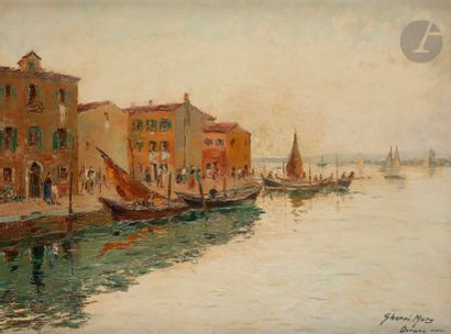 Bruno GHERRI-MORO (1899-1967) Burano, Venise...