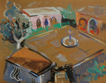 Georges Albert CYR (1880-1964) Liban, cour...