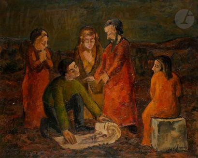 Abram TOPOR (1903-1992) La Lecture Huile...