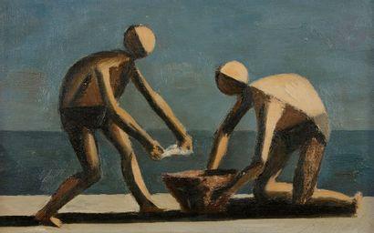 Diulio BARNABÉ (1914-1961) Deux pêcheurs...