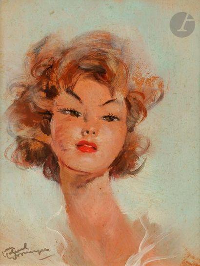 Jean-Gabriel DOMERGUE (1889-1962) Micky Huile...