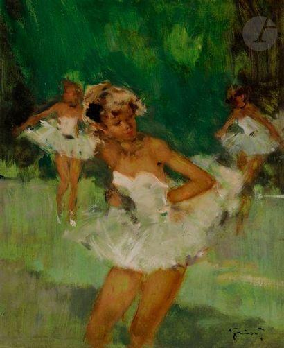 Pierre GRISOT (1911-1995) Danseuses Huile...