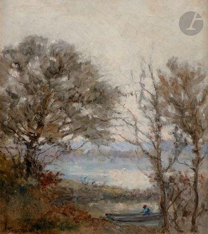 Paul-Désiré TROUILLEBERT (1829-1900) Barque...