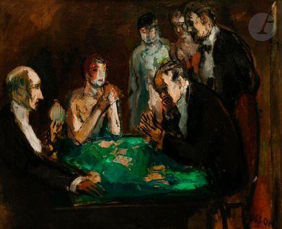 Marcel COSSON (1878-1956) Joueurs de carte...