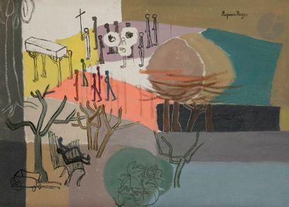Suzanne ROGER (1899-1986) L'Enterrement au...