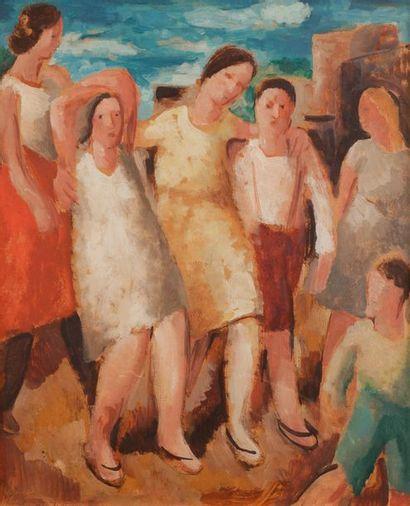 Charles WALCH (1896-1948) Danse au village,...