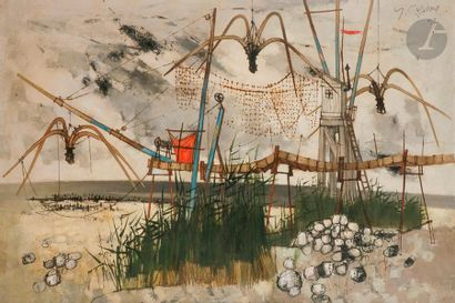 Yves GANNE (né en 1931) Saint-Brévin, Les...