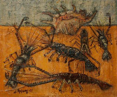 Gaétan DE ROSNAY (1914-?) Nature morte aux...