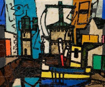 Claude VENARD (1913-1999) Le Port, 1956 Huile...