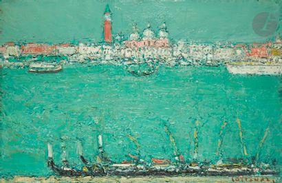 André COTTAVOZ (1922-2012) Venise Huile sur...