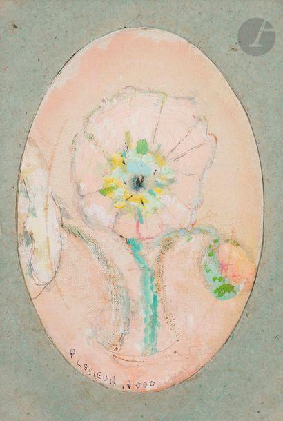 Pierre LESIEUR (1922-2011) Bouquet de fleurs,...