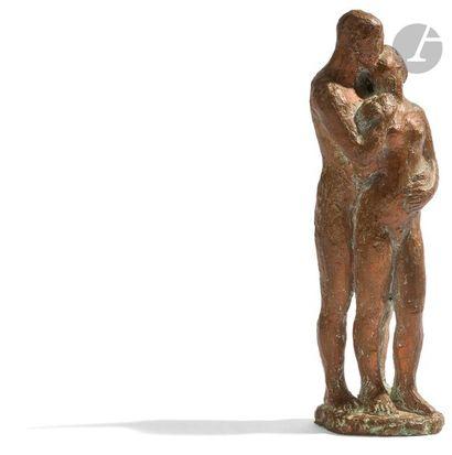 ÉCOLE MODERNE Le Couple Épreuve en bronze...